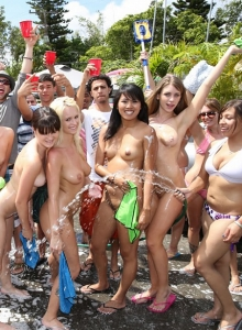 College orgy car wash