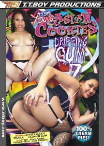 Young Asian Cookies Dripping Cum 7